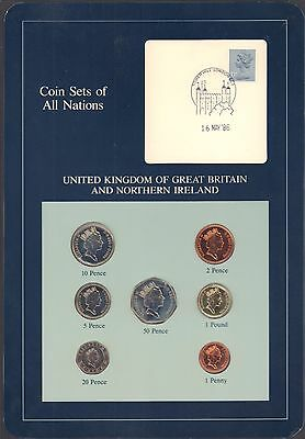 {BJSTAMPS}  Coin Sets of All Nations Great Britain Northern Ireland 1985-1987 BU
