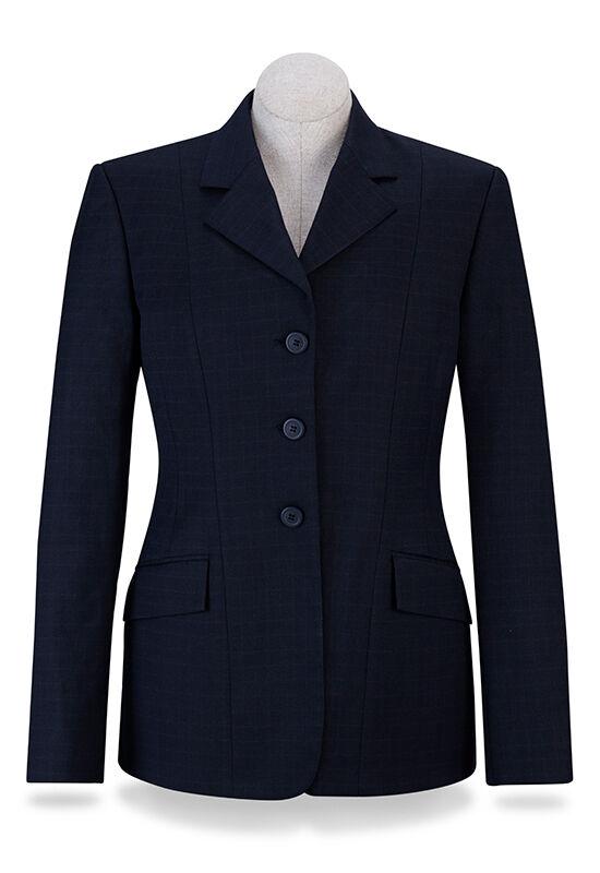NEW RJ Classics  Ladies Devon Show Coat- Navy Plaid- D8265 - Various Sizes  various sizes