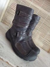 P819/57 Stunning IKKS Boys Brown Leather Calf Length Boots, UK 11 Kids Euro 29