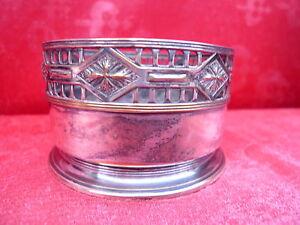 Beautiful, Old Bottle Holder __ Metal Silver Plated__Art Nouveau__Orivit_