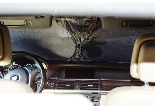 """Sumex Car Front Windscreen 27.5x59/"""" Foldable Reflective Sun Shade FREE DASH MAT"""