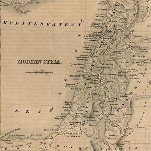 Modern-Syria-Cyprus-Holy-Land-Palestine1850-Pashalic-of-Tripoli-engraved-old-map