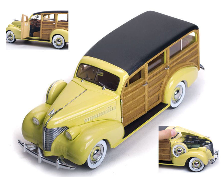 costo real Chevrolet Chevrolet Chevrolet Woody Station Wagon 1939 Woody   Cream 1 18 Model 6170 SUN Estrella  ofreciendo 100%