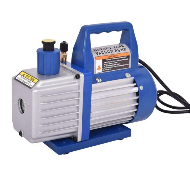 Single-Stage 3CFM Rotary Vane Deep Vacuum Pump 1//4HP HVAC AC Air tool R410a R134