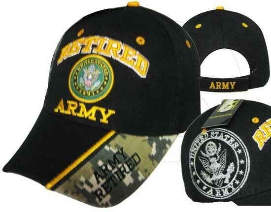 1a6ac52d16877 Adult US Army Retired With Seal Black Adjustable Strap Hat Cap for sale  online