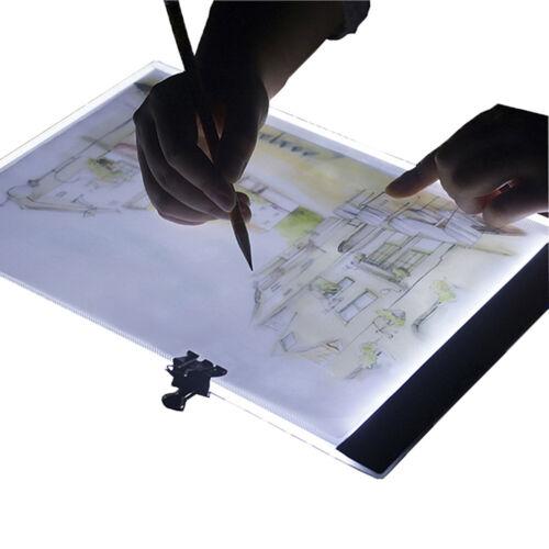 A5 LED Art Stencil Board Light Box USB Tracing Drawing Table Adjustable Pa e RWR