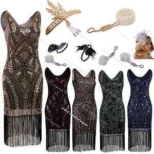 Flapper-1920s-Dress-Charleston-Gatsby-Sequin-Roaring-Fancy-Party-Fringe-Costumes