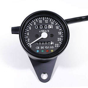 Mini-Speedometer-km-H-Pilot-Lights-for-Harley-davidson-Chopper