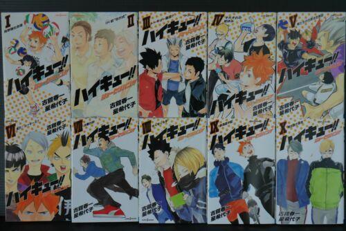 1~10 Set Haikyuu!! Haikyu!! JAPAN Haruichi Furudate,Kiyoko Hoshi novel LOT