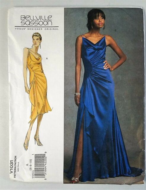 Vogue DESIGNER Bellville Sassoon V 1031 Evening Gown Sew Pattern ...