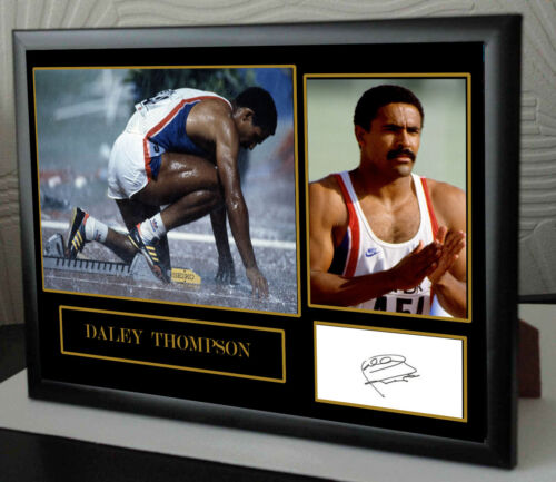 Daley Thompson Signed Framed Tribute