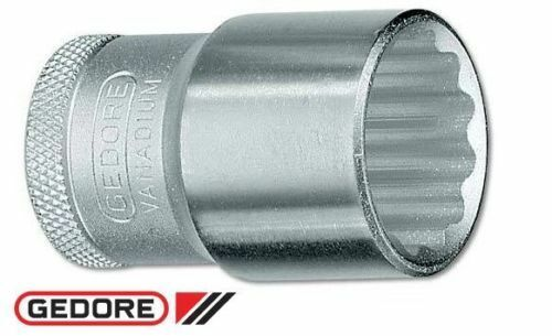 "Gedore Socket 1.1/4"" (1/2"" Drive) bi-hexagon UD profile Vanadium Steel Nickel"