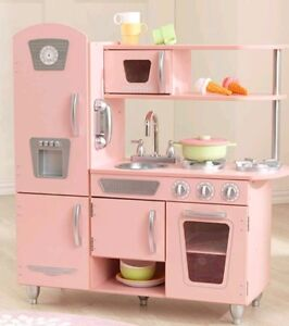 Details About Kidkraft Wooden Kids Kitchen Play Set Pink Kitchen Unit Food  Role Play Toys Gift