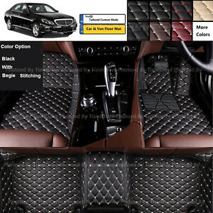 Custom-Made-PU-Leather-Car-Floor-Mat-Set-For-Mercedes-Benz-E-Class-AMG-W212-W213