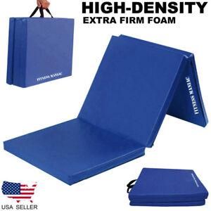 Gymnastics-Mats-Crash-Floor-Folding-Thick-Tri-Panel-Tumbling-Yoga-Gym-Exercise