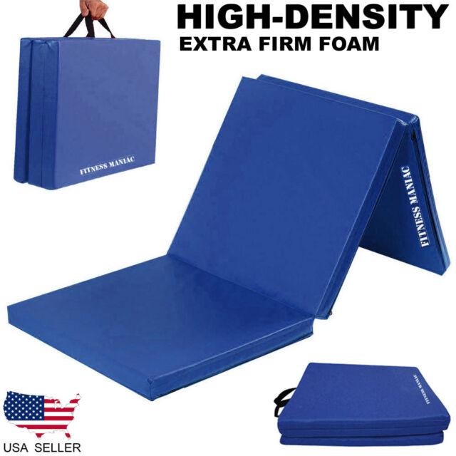 Used Gymnastics Mats For Sale >> Gymnastics Mats Crash Floor Folding Thick Tri Panel Tumbling Yoga Gym Exercise
