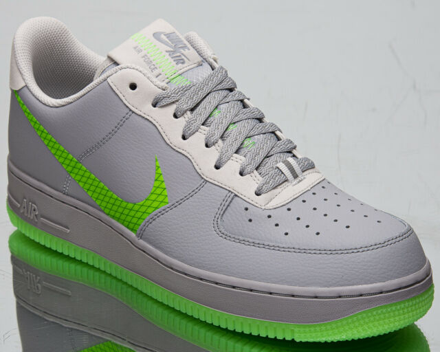 Nike Air Force 1 '07 LV8 3 Men's Wolf Grey Ghost Green Lifestyle Sneakers Shoes