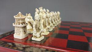 Jeu d'échecs original de Chine, jeu d'échecs, armée de terre cuite terre cuite C29006