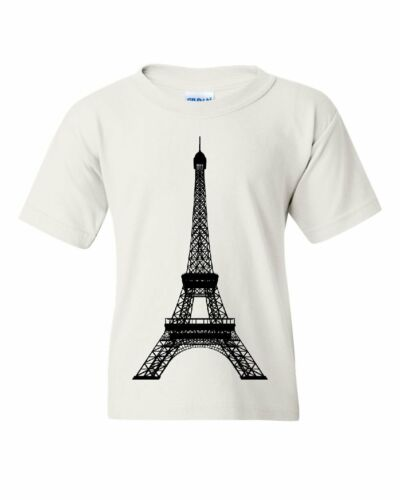 Eiffel Tower Youth T-Shirt Paris France Sightseeing Travel Europe Kids Tee