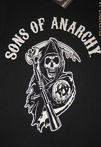 Sons Of Anarchy Circle Reaper Logo Samcro Soa T Shirt M