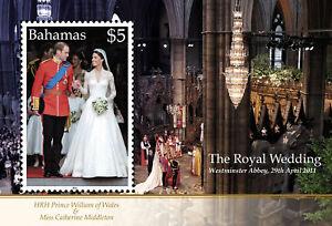 Bahamas 2011 Royal Wedding 1v MS MNH