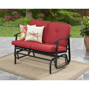 Fantastic Details About Mainstays Belden Park Outdoor Loveseat Glider With Cushion Pdpeps Interior Chair Design Pdpepsorg
