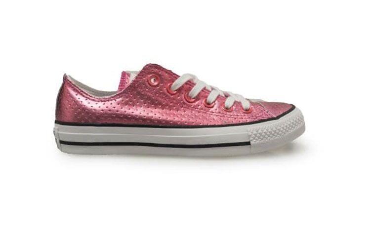 Girls Converse Ctas OX Chuck Taylor All Star Plastic Pink Ladies Converse
