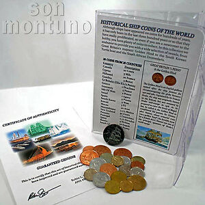 HISTORICAL-SHIP-COINS-OF-THE-WORLD-Set-of-20-coins-from-20-Countries-with-List
