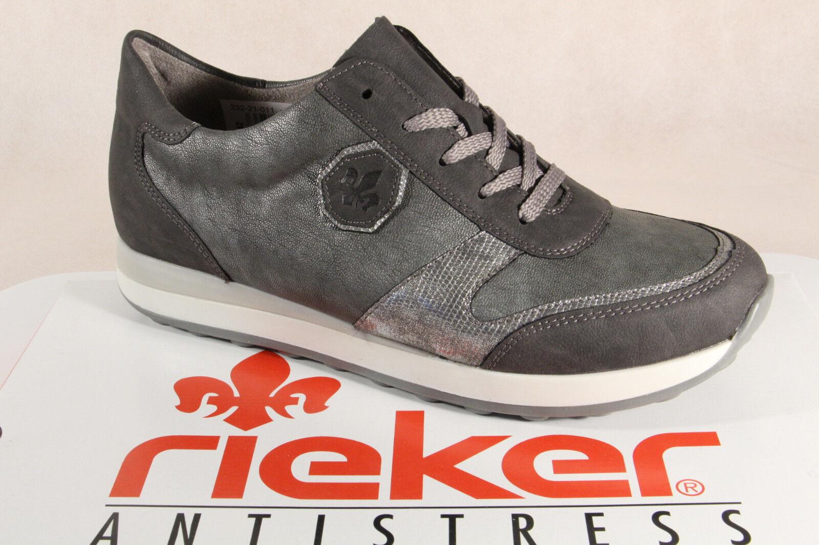 Los zapatos más populares para hombres y mujeres Descuento por tiempo limitado Rieker n1823 mujer Zapatos de cordones, zapatos, SNEAKER gris NUEVO