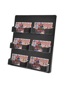 Lot of 3 black 6 pocket wall mount business card holder or gift card image is loading lot of 3 black 6 pocket wall mount reheart Images