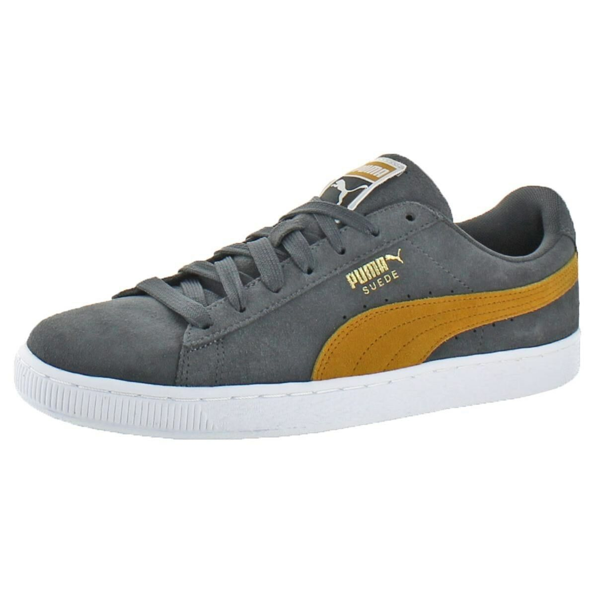 buy online 4c88f 44cd7 PUMA Men's Suede Classic Shoes Size 11 Gray Yellow Iron Gate Buckthorn Brwn