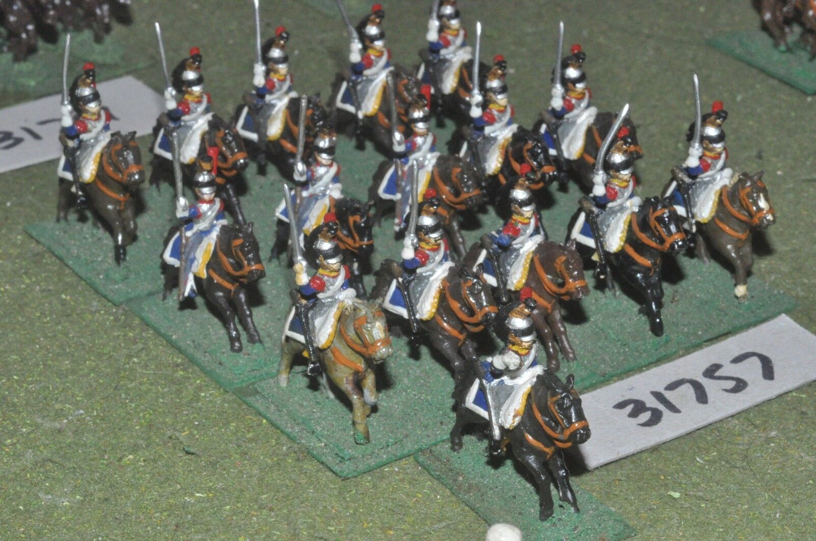 25mm napoleonic   french - cuirassiers 16 figures - cav (31757)