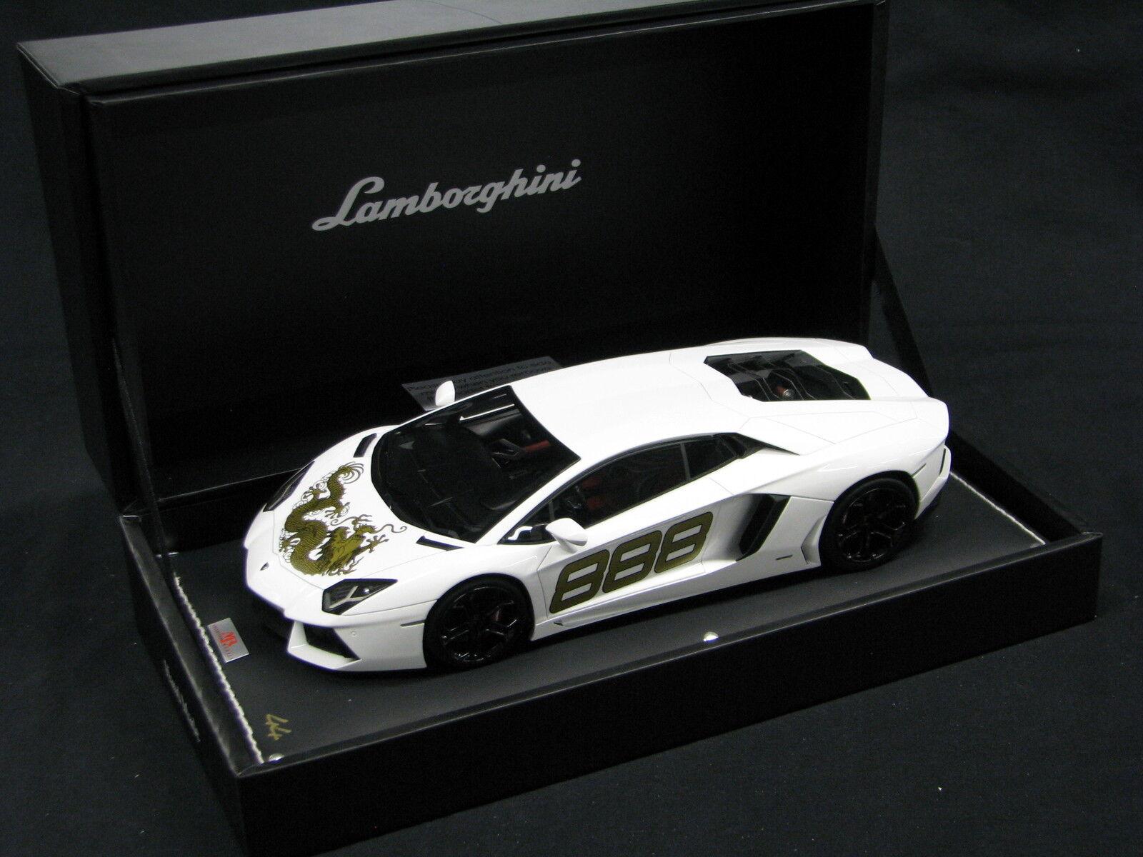 minoristas en línea MR Lamborghini Lamborghini Lamborghini Aventador LP700-4 Dragon Version 1 18  888 blanco  la red entera más baja