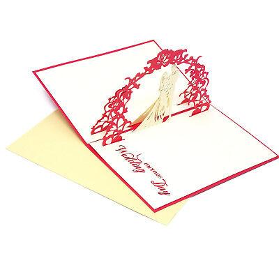 Partecipazioni Matrimonio Kirigami.Biglietto Auguri 3d Kirigami Bigliettino Carta Matrimonio Invito