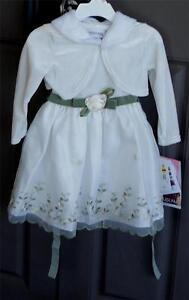 Cute-Youngland-Girls-2T-Dress-Removeable-Imitation-Fur-Collar-BRAND-NEW