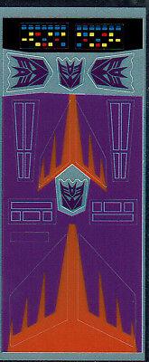 G1 DECEPTICON CYCLONUS repro Labels//stickers Transformers génération 1