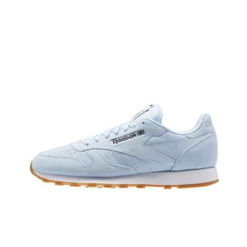 Reebok Classic Leather Pastels FRESH BLUE//CLASSIC WHITE// Men/'s Shoes BS8967