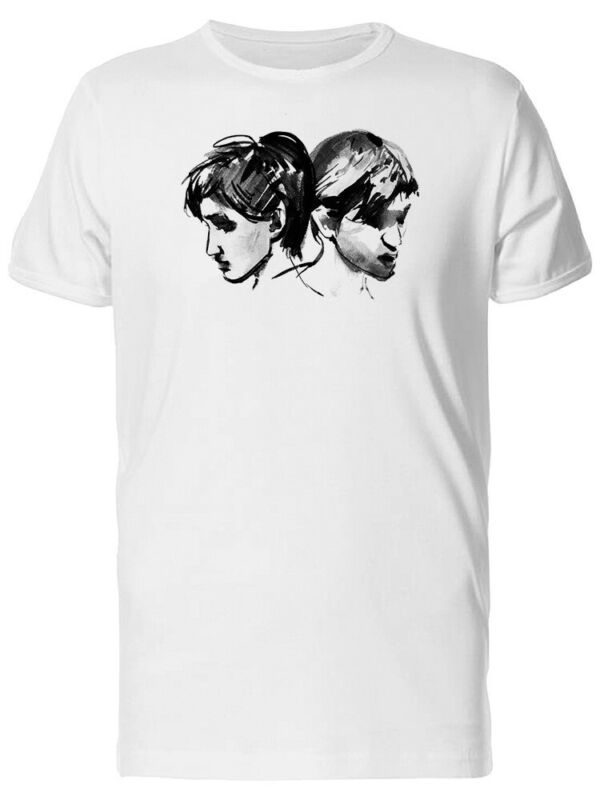 Well-Educated Woman And Man Portrait Men's Tee -image By Shutterstock Let Our Commodities Go To The World