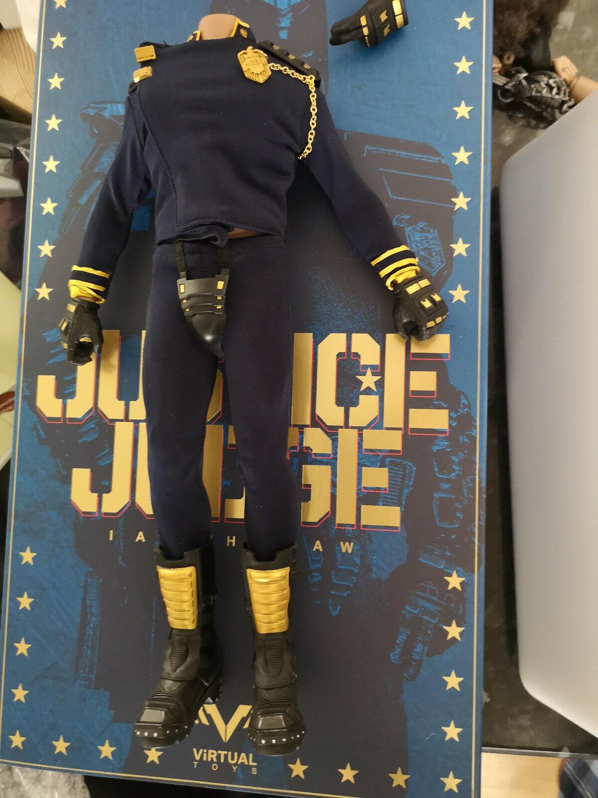 1 6 escala VTS juez justicia cuerpo, traje, Acolchado, las manos y botas, Insignia Nuevo