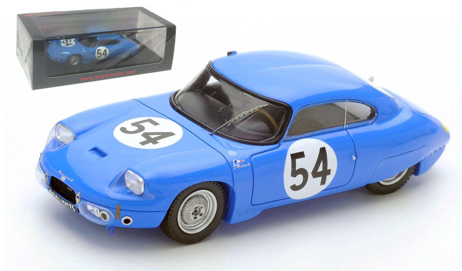 Spark S4711 CD Panhard et Levassor Le Mans 1962 - Lelong Hanrioud 1 43 Scale