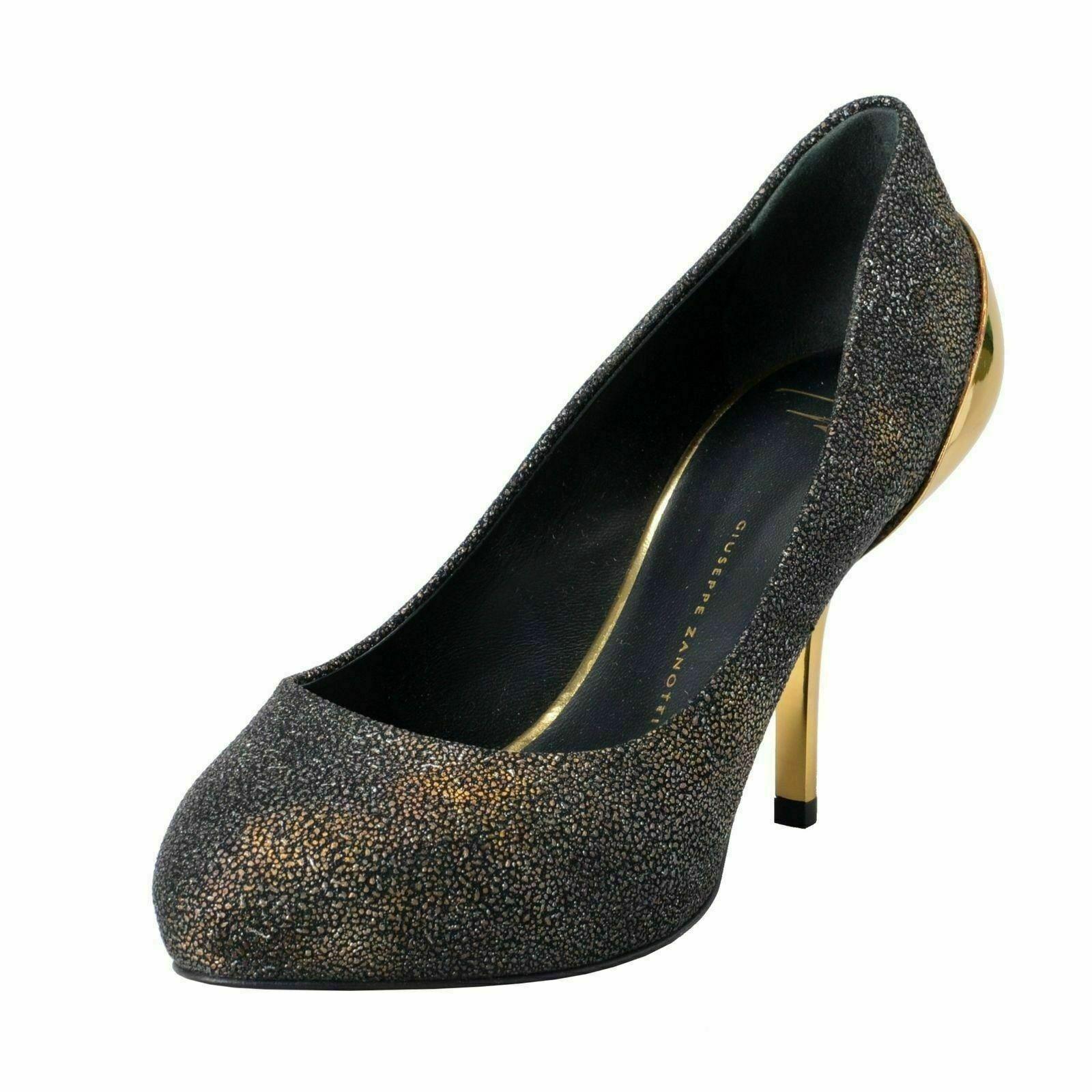 Giuseppe Zanotti Design Damen GelbGolden High Heels Pumps Schuhe US 6 It 37