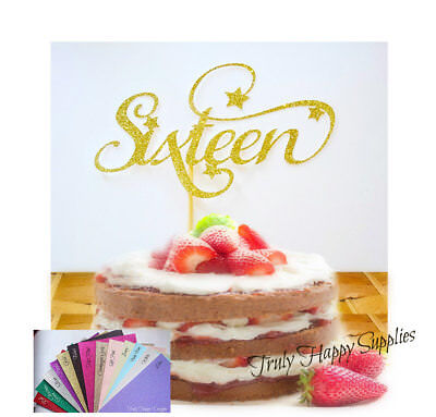 Astounding 16Th Birthday Cake Topper Sixteen 16 Sixteenth Birthday 20 Personalised Birthday Cards Epsylily Jamesorg