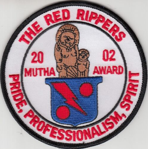 VF-11 THE RED RIPPERS 2002 MUTHA AWARD PATCH