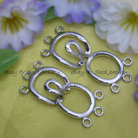 3 Strands white Cute Gold Plated toggle Clasp Jewelry Making Seed_Beauty gp0273