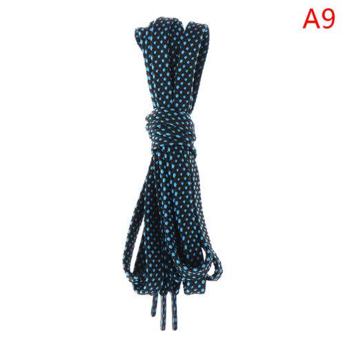 1Pair 120CM Two-color interweaving Flat Shoelaces Casual Shoe Lace MA W sg