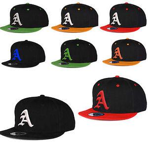 New-Snapback-Cap-Hat-Gothic-3D-Letter-A-Snap-back-Baseball-Hat-Unisex-Women-Men