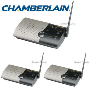 chamberlain wireless intercom system 3 unit set voice activated home nls2 nls1 ebay. Black Bedroom Furniture Sets. Home Design Ideas