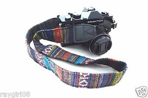EthnicTribal-Native-Geometric-Vintage-Look-dSLR-Universal-Camera-Strap-NEW-B