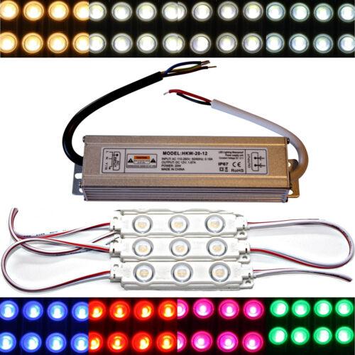 5730 SMD Chip warmweiß kaltweiß Injektion  6500K LED Module 12V Netzteil
