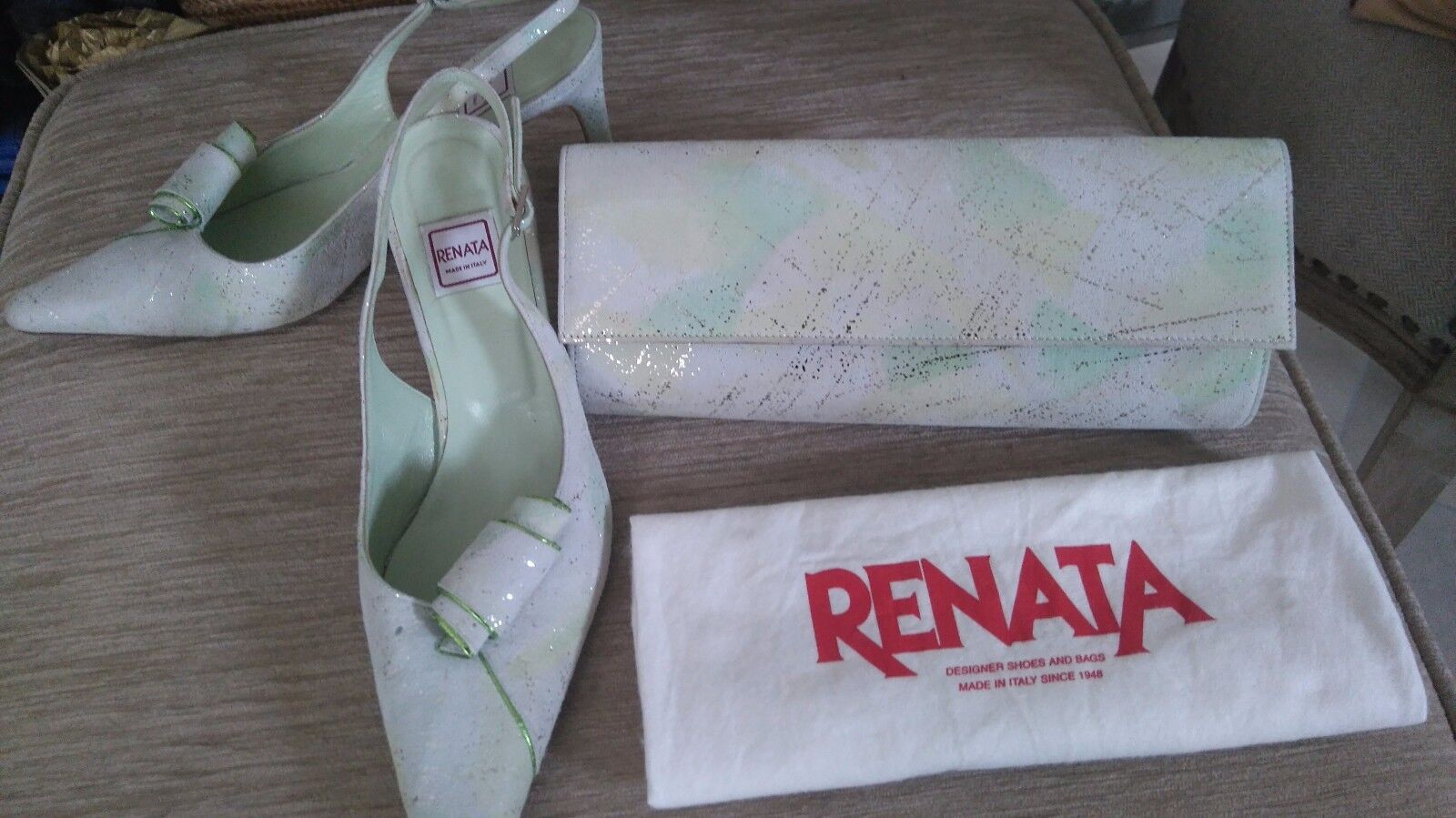 RENATA Schuhes and Bag Soft Lime Dance Größe 40.5 Wedding, Cruise, Dance Lime f08e2a